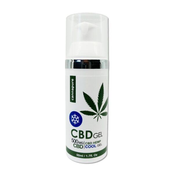"""Cannapure - CBD konopný gel """"chladivý"""" (500 mg CBD)"""